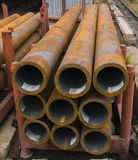 Rusty pipes in factory Stock Photography