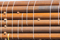 Rusty Pipes op Railcar Stock Foto's