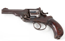 Rusty pistol. Old rusty pistol  on white background Royalty Free Stock Photography