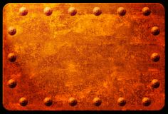 Rusty Plaque with Rivets Royalty Free Stock Image