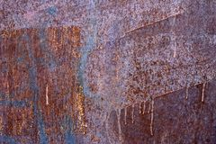 Rusty plate. Metal texture stock images
