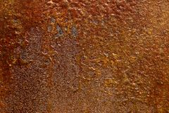 Rusty plate. Rusty metal plate stock photography