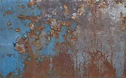 Rusty plate. Blue plate with rusty surface Stock Images