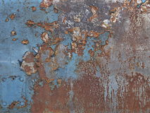 Rusty plate. Blue plate with rusty surface Stock Photo