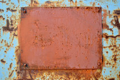 Rusty plate Stock Photos