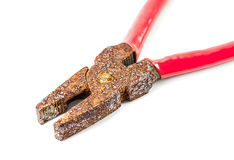 Rusty pliers Royalty Free Stock Photos