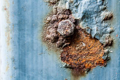 Rusty on the pole Royalty Free Stock Images