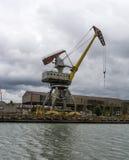 Rusty port crane. Stock photo Royalty Free Stock Photo