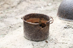 Rusty pot Royalty Free Stock Photos