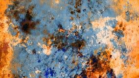 Rusty Precious Grunge Stone Painting-Muur Abstracte Achtergrond stock illustratie