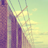 Rusty prickle wire fence Royalty Free Stock Photography