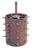 Rusty prickly drum Royalty Free Stock Image