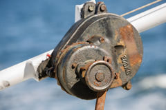 Rusty pulley Stock Photos