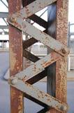 Rusty pylon, or bridge column, urbanistic image Royalty Free Stock Images