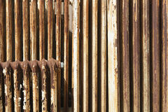 Rusty radiator with cracked white paint Stock Images