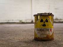 Rusty Radioative material container Royalty Free Stock Photos