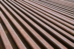 Rusty rail metal Royalty Free Stock Images