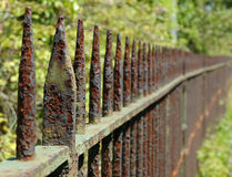 Rusty railings. Rusty old railings Royalty Free Stock Photography