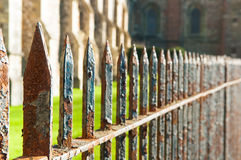 Rusty railings. Close up view of rusted railings Royalty Free Stock Image