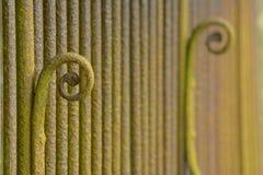Rusty Railings. Old handmade rusty railings in the churchyard at Chetwode, Buckinghamshire Stock Photography