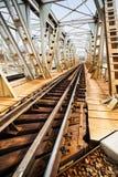 Rusty railroad bridge Royalty Free Stock Photography