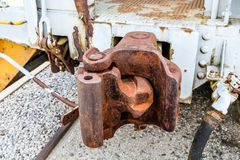 Rusty Railroad Coupling Royalty Free Stock Photo