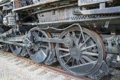 Rusty Railroad Locomotive Wheels anziano Fotografia Stock Libera da Diritti
