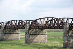 Rusty Railway Bridge Stock Photo