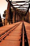 Rusty railway bridge Stock Image