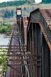 Rusty Railway Bridge Over River Imagem de Stock Royalty Free