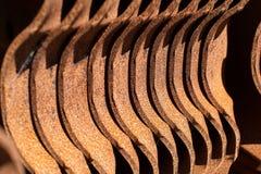 Rusty railway sleepers Royalty Free Stock Photo