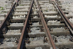 Rusty  Railway Track Royalty Free Stock Photography