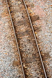 Rusty railway track Stock Images