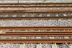 Rusty railway tracks Stock Photos