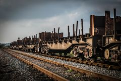 Rusty Railway Wagons Lizenzfreies Stockbild
