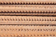 Rusty rebar background Stock Image