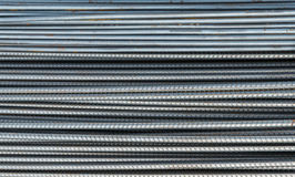 Rusty rebar steel used in construction Royalty Free Stock Image