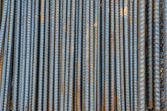 Rusty rebar steel used in construction. Stock Photo