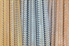 Rusty rebar steel used in construction Stock Photos