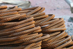 Rusty rebars, bent Royalty Free Stock Images