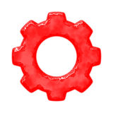 Rusty red gear Royalty Free Stock Images