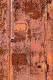 Rusty red metal gate background Royalty Free Stock Photography