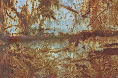 Rusty red metal texture. Rusty red texture of old metal Royalty Free Stock Photography