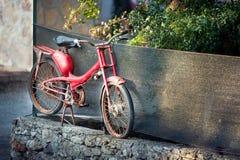 Rusty  red motorbike Stock Photo