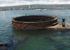 Rusty Relic au mémorial de Pearl Harbor Images libres de droits