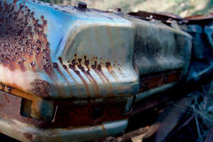 Rusty Remains eines Automobils stockbild