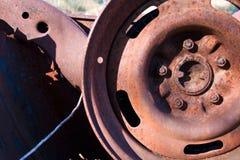 Rusty Remains eines Automobils lizenzfreie stockfotografie