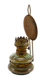 Rusty retro kerosene lamp isolated on white Stock Photography