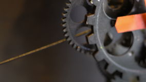 Rusty Retro Mechanic Clock Gears video estoque
