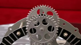 Rusty Retro Mechanic Clock Gears stock video
